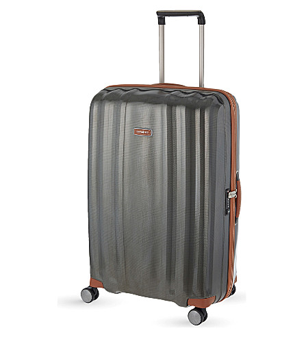 SAMSONITE Lite-Cube DLX four-wheel suitcase 82cm (Dark+olive