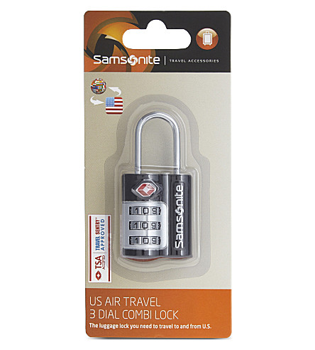 SAMSONITE Safe luggage lock (Black