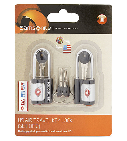 SAMSONITE 美国航空旅行钥匙锁 (黑色