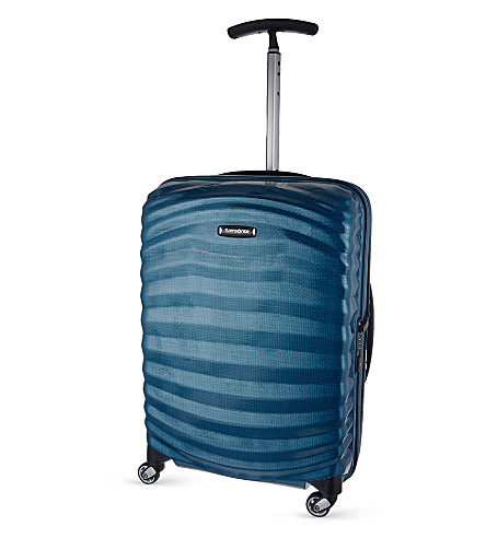 SAMSONITE Lite-Shock spinner 55 four-wheel cabin suitcase (Petrol+blue