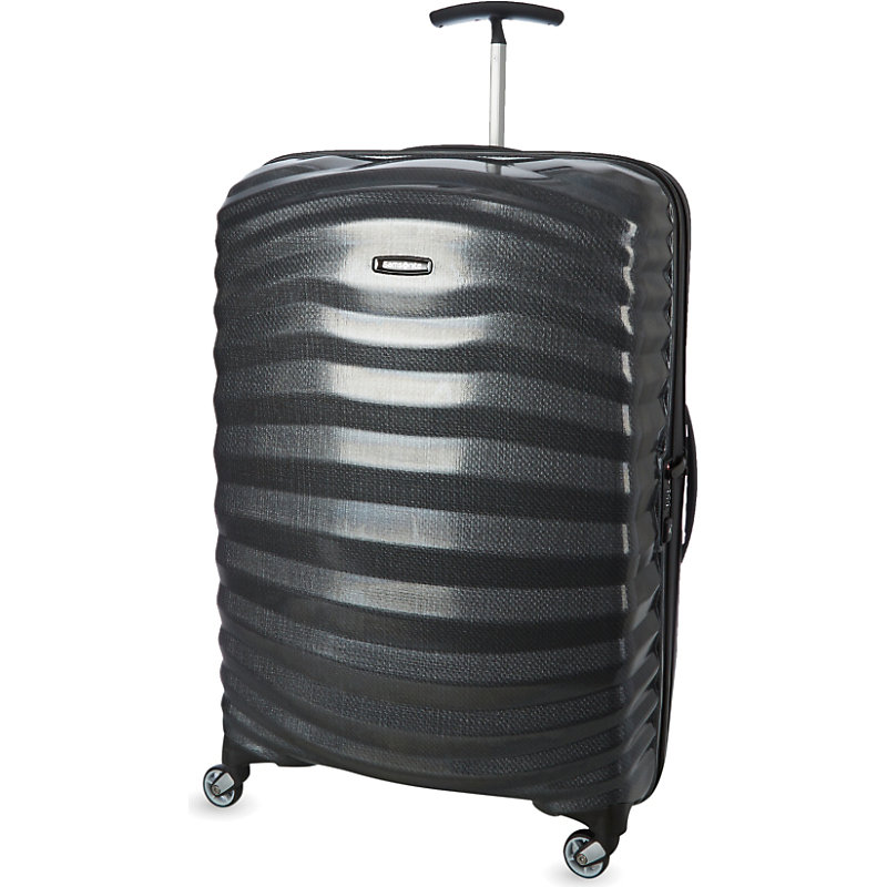 SAMSONITE | Samsonite Lite-Shock Four-Wheel Suitcase 75cm, Black | Goxip