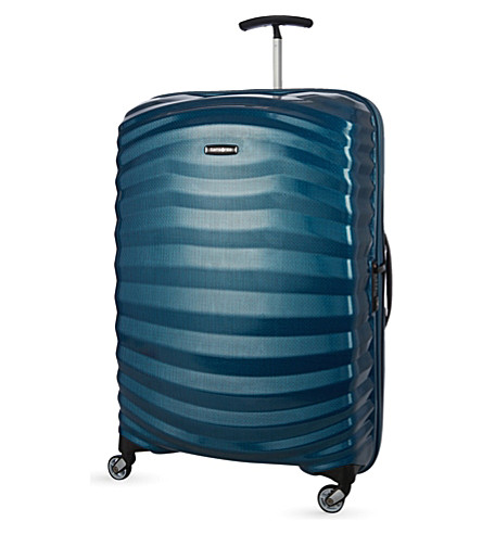 SAMSONITE Lite-Shock Spinner 75 four-wheel suitcase (Petrol+blue
