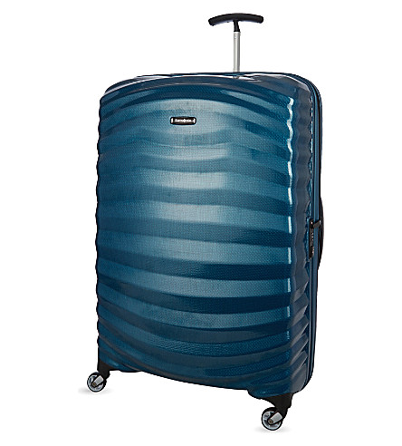 SAMSONITE Lite-Shock spinner 81 four-wheel suitcase (Petrol+blue