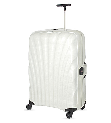 SAMSONITE Litelocked 81 spinner four-wheel suitcase trolley (Off-white