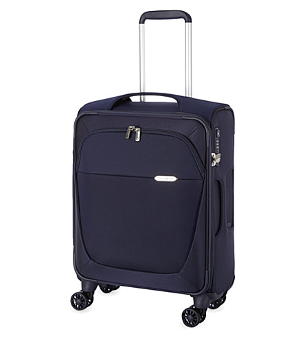 SAMSONITE Four-wheel spinner suitcase 55cm (Dark+blue