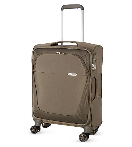 SAMSONITE Four-wheel spinner suitcase 55cm (Walnut