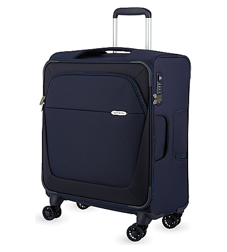 SAMSONITE Four-wheel spinner suitcase 56cm (Dark+blue