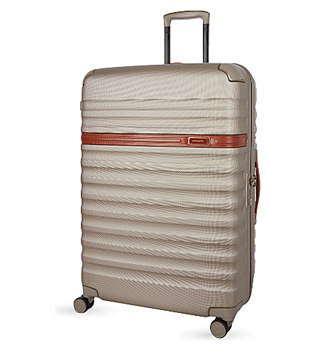 SAMSONITE Splendor four-wheel spinner suitcase 75cm (Ivory/gold