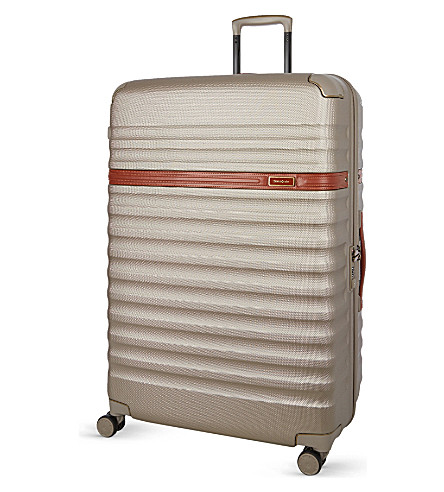 SAMSONITE Splendor four-wheel spinner suitcase 81cm (Ivory/gold