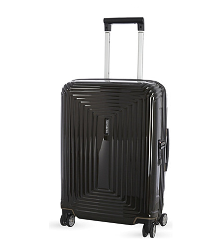 SAMSONITE Neopulse four-wheel spinner suitcase 55cm (Metallic+black