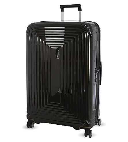 SAMSONITE Neopulse four-wheel spinner suitcase 81cm (Metallic+black
