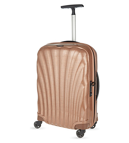 SAMSONITE Cosmolite four-wheel cabin suitcase 55cm (Copper+blush