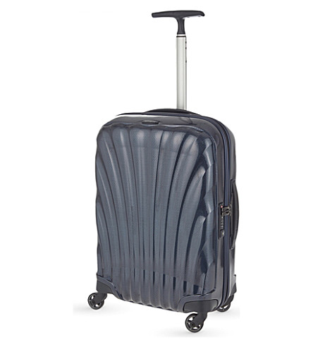 SAMSONITE Cosmolite four-wheel cabin suitcase 55cm (Midnight+blue