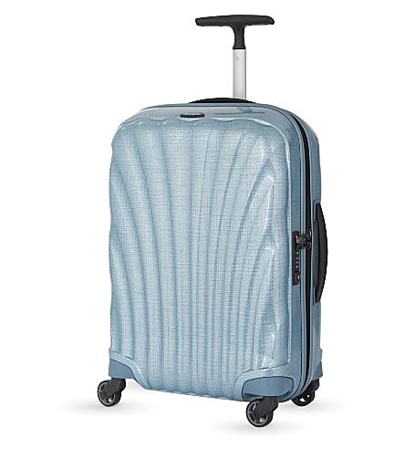SAMSONITE Cosmolite four-wheel cabin suitcase 55cm (Ice+blue