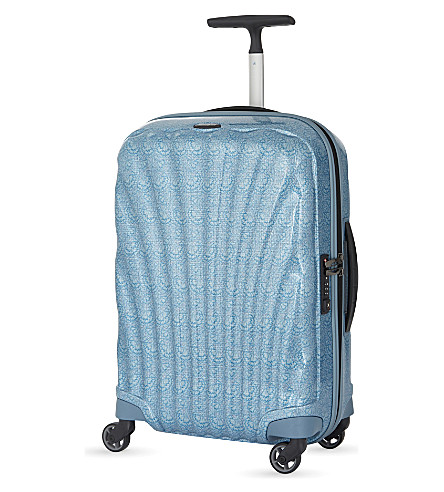 SAMSONITE Cosmolite four-wheel cabin suitcase 55cm (Lace+ice+blue