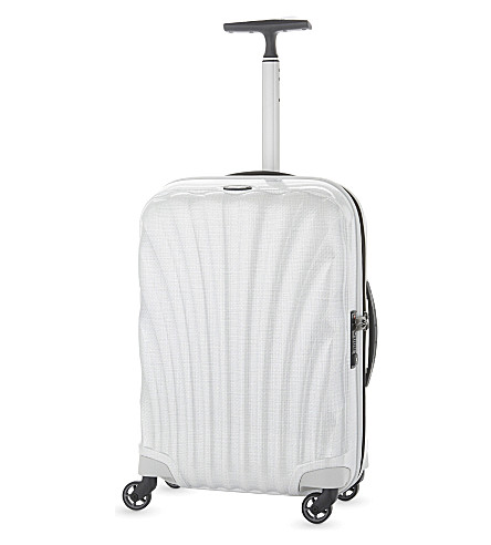 SAMSONITE Lite-Locked four-wheel spinner suitcase 55cm (Off+white