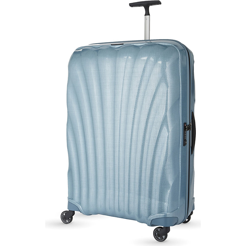SAMSONITE | Samsonite Cosmolite Four-Wheel Suitcase 80cm, Ice Blue | Goxip
