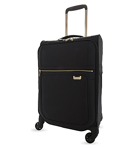 SAMSONITE Uplite expandable four-wheel cabin suitcase 55cm (Black/gold