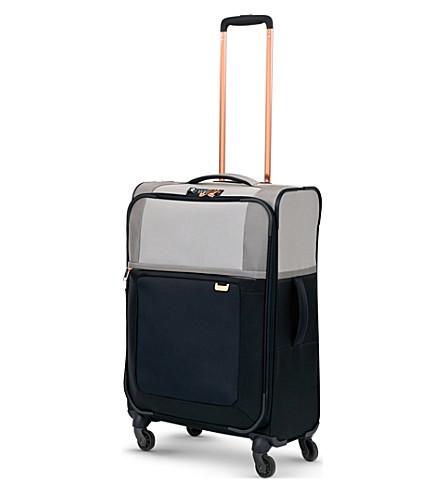 SAMSONITE Uplite four-wheel expandable suitcase 67cm (Pearl/blue