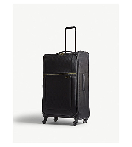 SAMSONITE Uplite four-wheel expandable suitcase 78cm (Black/gold