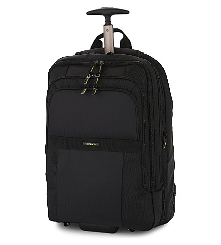 SAMSONITE Infinipak two-wheel expandable backpack 51cm (Black/black