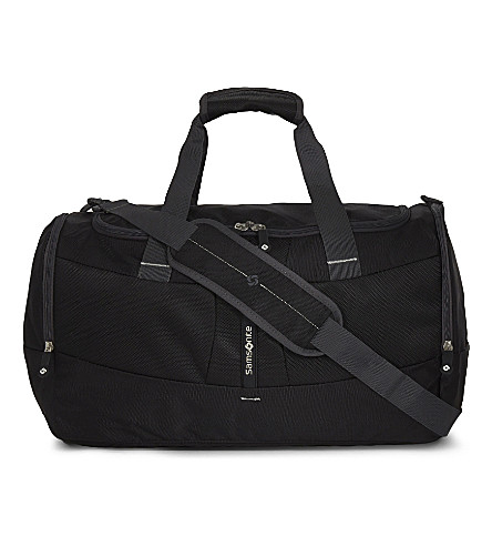 SAMSONITE 4mation zipped duffle bag (Black/silver