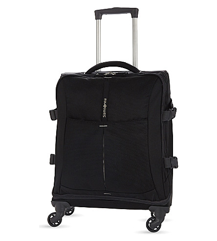 SAMSONITE 4mation four-wheel spinner duffle 55cm (Black/silver