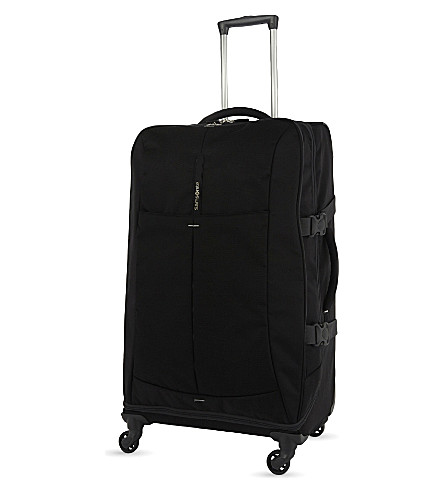 SAMSONITE 4Mation four-wheel Spinner Duffle 77cm (Black/silver