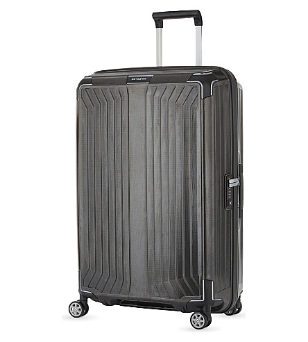 SAMSONITE LITE-BOX 4 wheel spinner suitcase 75cm (Black