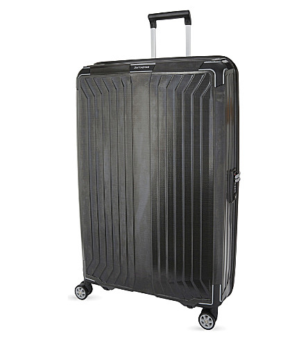 SAMSONITE LITE-BOX 4 wheel spinner suitcase 81cm (Black