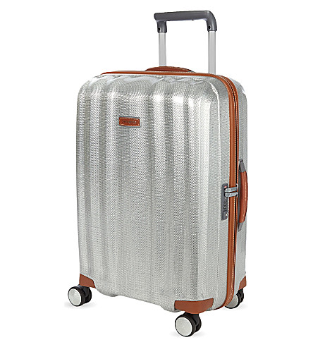 SAMSONITE Lite-Cube Deluxe four-wheel spinner suitcase 68cm (Aluminium