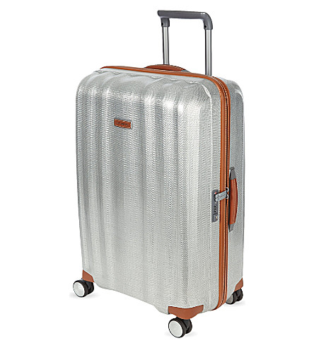 SAMSONITE Lite-Cube Deluxe four-wheel spinner suitcase 82cm (Aluminium