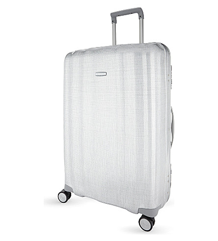 SAMSONITE Lite-Cube FR spinner suitcase 82cm (Aluminium
