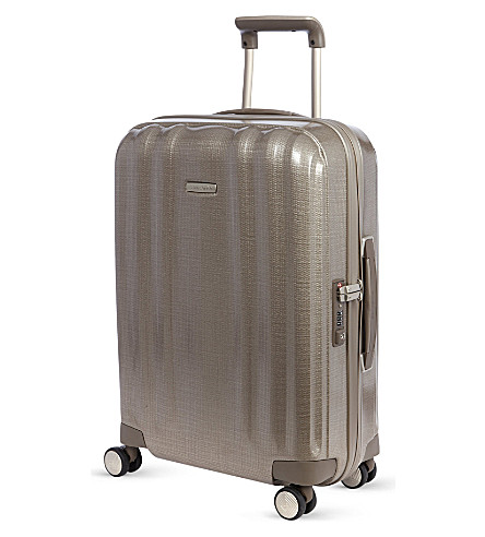 SAMSONITE Lite-Cube four-wheel spinner suitcase 55cm (Champagne