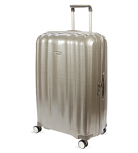 SAMSONITE Lite-Cube four-wheel spinner suitcase 82cm (Champagne