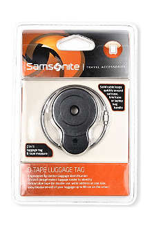SAMSONITE ID luggage tag and tape