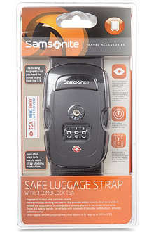 SAMSONITE Safe luggage strap with combination lock