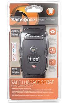 SAMSONITE Safe luggage strap with combination lock