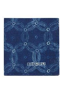 BOGLIOLI Floral bandana print pocket square