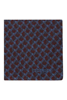 BOGLIOLI Vintage tile silk pocket square