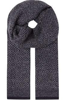 BOGLIOLI Woollen diamond pattern scarf