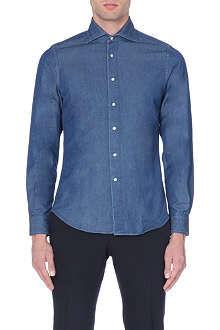 BOGLIOLI French single-cuff denim shirt