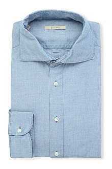 BOGLIOLI Chambray regular-fit single-cuff shirt