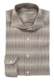 BOGLIOLI Gingham regular-fit single-cuff shirt