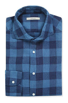 BOGLIOLI Checked regular-fit single-cuff shirt