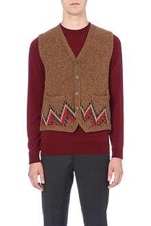 BOGLIOLI Geometric flecked knitted vest