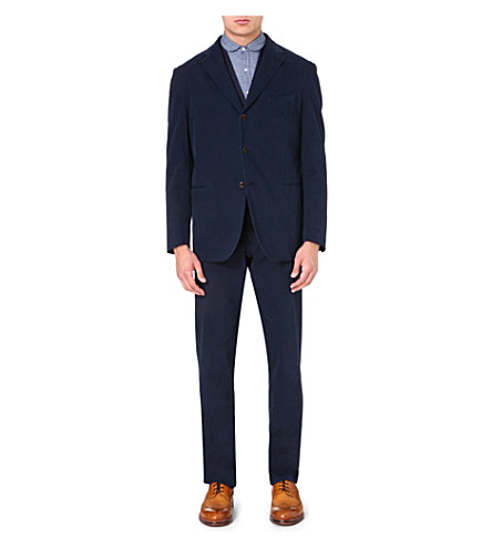 BOGLIOLI Single-breasted stretch-cotton suit (Navy