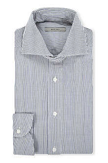 BOGLIOLI Striped slim-fit single-cuff shirt