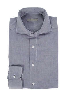 BOGLIOLI Spread-collar slim-fit single-cuff shirt