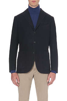 BOGLIOLI Single-breasted garment-dyed jacket